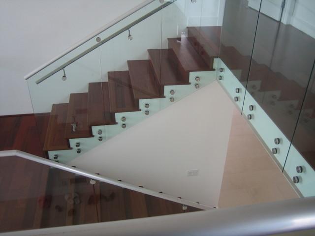 StandOff Glass Railings 1  Modern  Staircase  los
