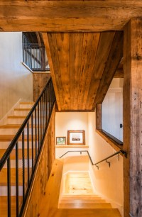 Post and Beam Seacoast Residence - Rustic - Staircase ...