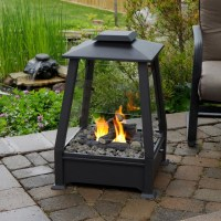 Real Flame - Sierra Outdoor Fireplace - Contemporary ...