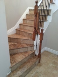 Travertine Stairs - Traditional - Staircase - toronto - by ...