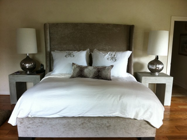Soft Contemporary bedroom by Texas Tuscan Furniture