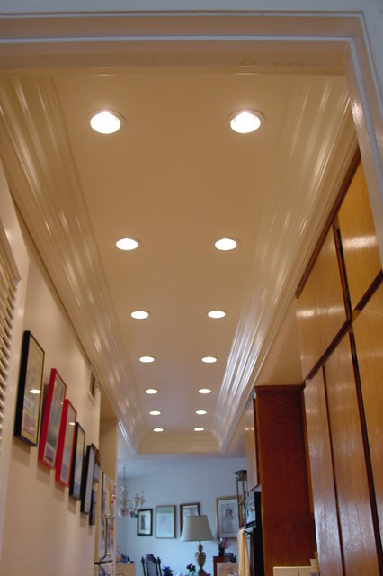 Recessed lighting  coved ceiling traditionalkitchen