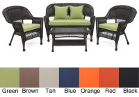 Patio Furniture: Black Wicker Patio Furniture