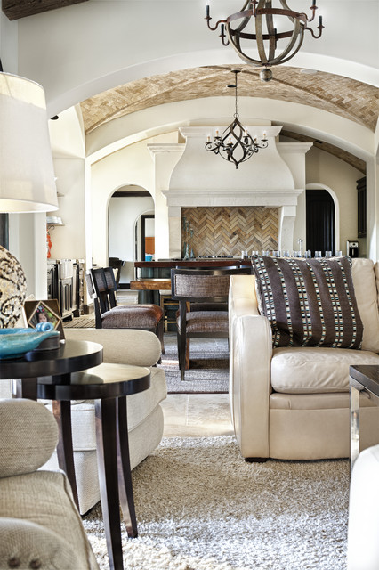 nice mirrors living room interior design long narrow rooms texas chic - mediterranean austin by ...