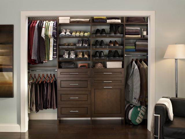Cleanedup mens closet  Contemporary  Closet  by ClosetMaid