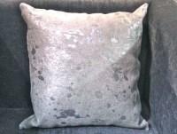 Animal Hide Pillow with Metallic Silver - Clayton Gray ...