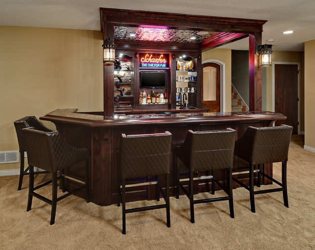 Minnetrista Basement  Traditional  Home Bar  minneapolis  by Knight Construction Design Inc