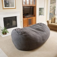 David Gray Faux Suede 8 Foot Lounger Bean Bag - Modern ...