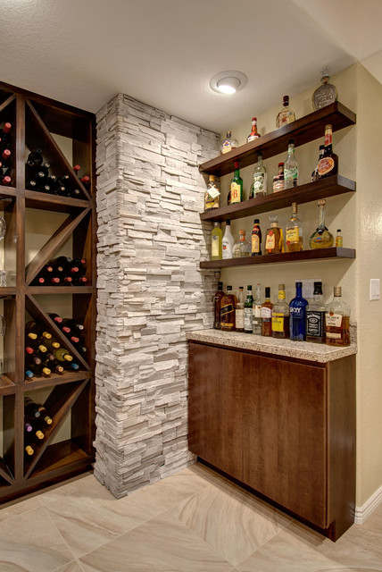 Basement Bar Shelving  Transitional  Basement  denver
