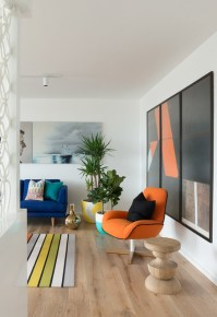 60s Inspired Apartment - Contemporary - Living Room ...