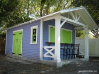 Palm Harbor Snack Shack - Tropical - Garage And Shed ...