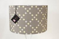 Gray/Yellow Polka Dot Drum Shade by Mood Design Studio ...