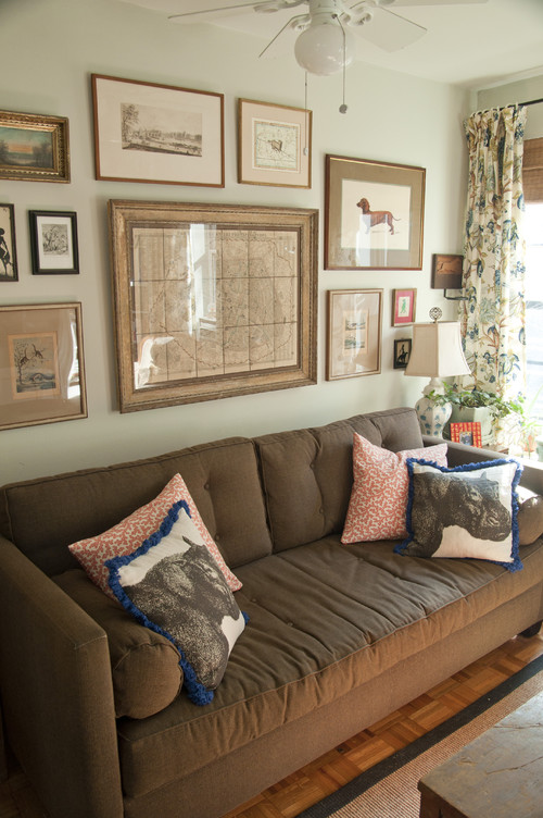 dark brown sofa design billige sofaer pa nett house revivals 17 pretty ways to decorate with a
