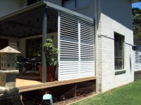 Stylish Privacy with Aluminum Shutters - Contemporary ...