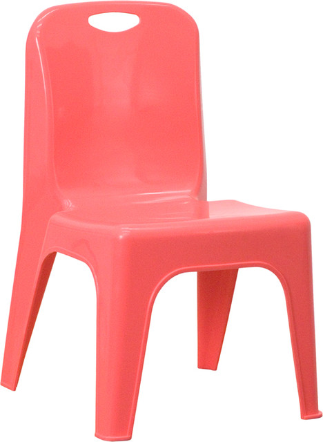 Flash Furniture Red Plastic Stackable School Chair with