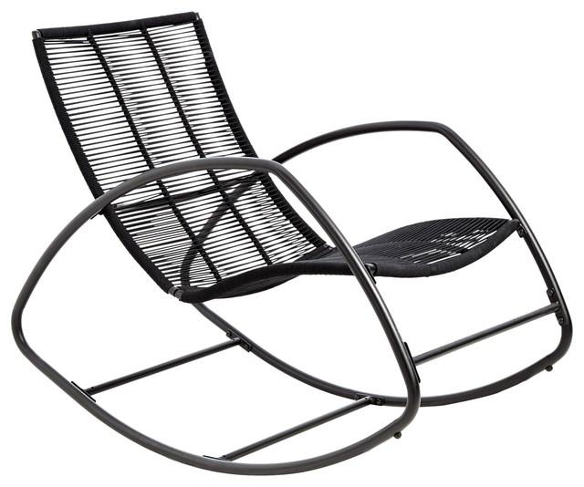 Moretta Metal Black Rocking Chair
