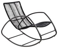 Moretta Metal Black Rocking Chair - Contemporary - Outdoor ...