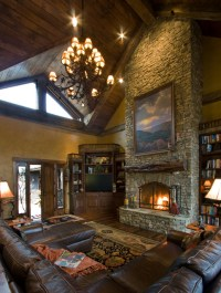 Balsam Mountain Rustic Elegance - Rustic - Living Room ...