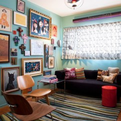 Living Room Side Table Decorating Ideas Calm Paint Colors For San Francisco Mid-century Mix - Eclectic ...