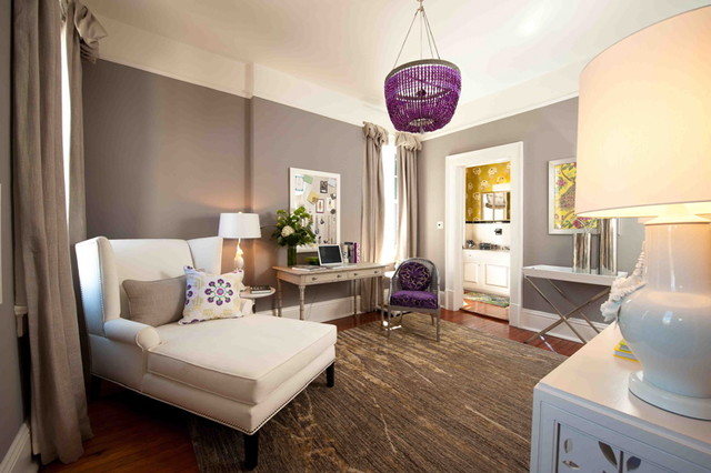 purple living rooms houzz big lots room furniture home office - eclectic dc metro by ...
