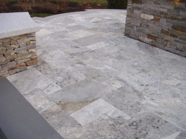 travertine pavers - contemporary