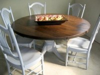 Rustic Round Harvest Table And Chairs - Farmhouse - Dining ...