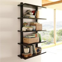 Wall-Mounted Bookcase, Tall - Modern - Display And Wall ...