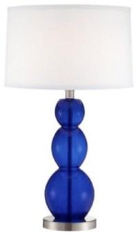 Triple Gourd Cobalt Blue Glass Table Lamp - Contemporary ...