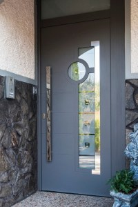 Aluminum Modern Front Entry Door - Contemporary - Front ...