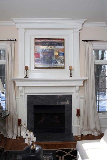 Custom Fireplace mantles buildins  Traditional  Living