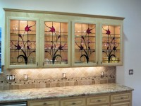 Stained Glass Cabinet Inserts - Hawkings Residence ...