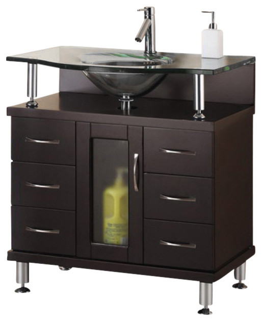 32 Inch Modern Single Sink Bathroom Vanity  Modern