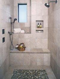 Mediterranean Shower Bench Bathroom Design Ideas, Pictures ...