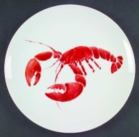 Studio Nova Lobster Dinner Plate, Red