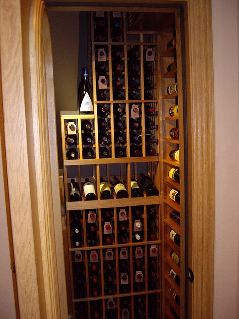 Small but Aesthetically Appealing and Highly Functional Wine Cellar Design Texas  Traditional