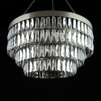 Mirrored Crystal Shallow Chandelier - Contemporary ...