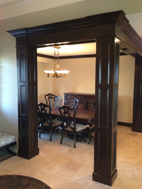 hanging chair edmonton toddler wood meyer dining room columns - traditional by iconic cabinets inc.