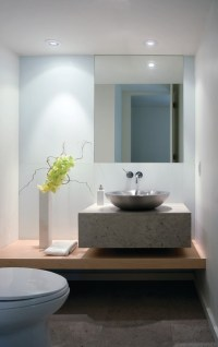 Modern Simplicity - Contemporary - Powder Room - other ...