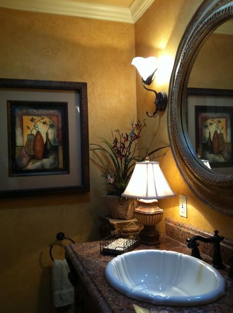 Guest Bathroom  Traditional  Powder Room  oklahoma city  by Rhonda Kieson Designs