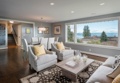 Wood Floor Area Rug Home Design Photos Houzz