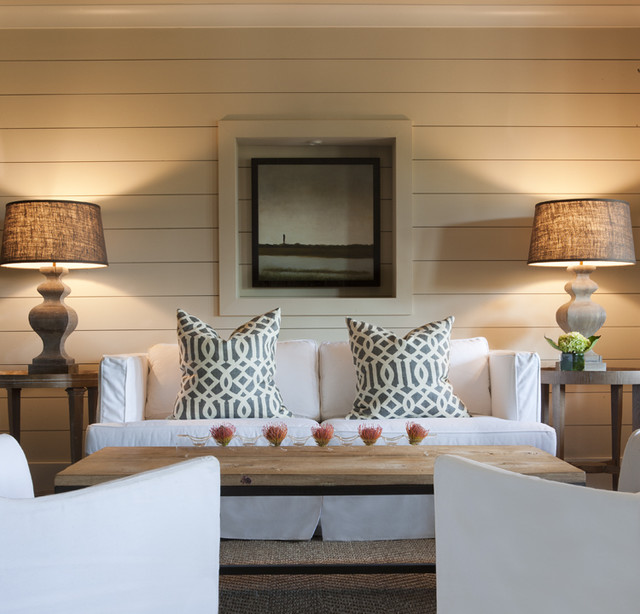 tropical living room by Brown Contractors Fine Custom Homes