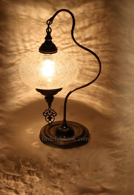 Turkish Style Brass Table Lamp  Mediterranean  Table