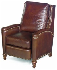 Leather Recliner w Cushioned Seat and Back - Traditional ...