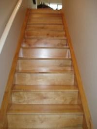 Custom built urban lumber maple stairs