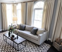 Arlington Living Room Drapes - Transitional - Living Room ...