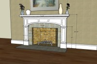 Craftsman Style Fireplace Surround with elliptical arch ...