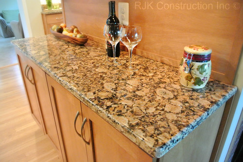 commercial kitchen tile waypoint cabinets giallo fiorito granite | countertops, slabs,