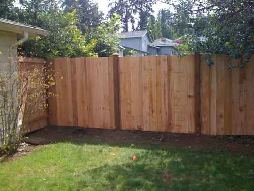 wood privacy fences - traditional