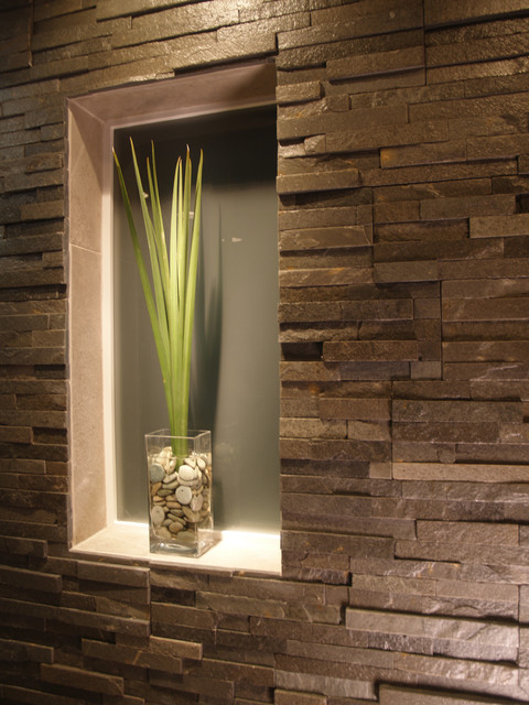 Bathroom Natural Stone Built In  Contemporary  Bathroom