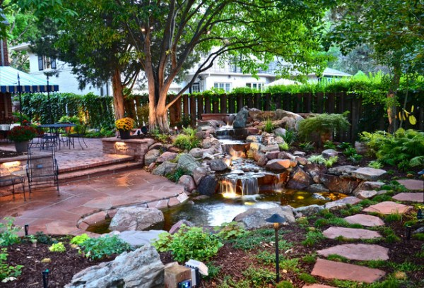 park hill backyard - traditional